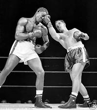 Rocky Marciano Upper cuts Ezzard Charles 1954 Fight  8  x 10  Photograph
