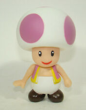 Super Mario Brothers Mushroom Purple Toad Action Figure Plastic Toy 9CM
