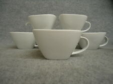 Pack of 12 Porcelain Cafe Bistro White Square Mocca Espresso Cups 19cl #12L113A