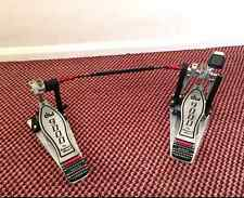 DW 9000 ( DW 9002 ) Double Bass Drum Pedal VGC. with 1 Beater 'end' / head