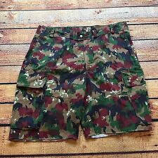 VTG CAMO GERMAN ARMY Cargo Military Size 38 Shorts Camouflage Skate Germany US