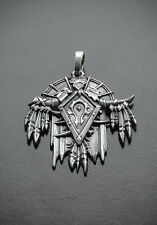 The Horde medallion inspired by World of Warcraft game made from white bronze