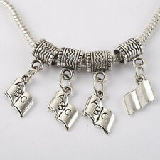26pc dark silver-tone bail&book charms fit bracelet W809