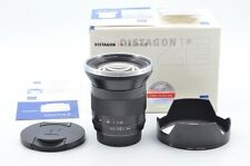 Contax carl Zeiss Distagon 18mm f4 T* AEG Lens Near Mint!