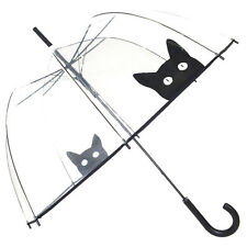 Black Cat Kitten Large Dome Walking Umbrella by Susino Cat Lovers Gift Festival