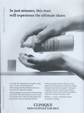"Clinique Skin Supplies For Men ""Shave Aloe Gel"" 1998 Magazine Advert #4451"