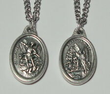 """Guardian Angel & Archangel St Michael Holy Medal on 24"""" Chain Soldiers & Police"""