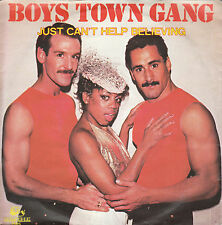 "7"" 45 TOURS HOLLANDE BOYS TOWN GANG ""I Just Can't Help Believing"" 1983 POP"