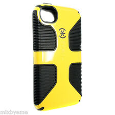 New Speck Case iPhone 4 4s Candyshell Grip Yellow/Black Cover Shell Bumper Skin