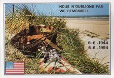 WW2 - CP - Nous n'oublions pas - We remember - Casque US sur la dune