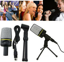 Pro Podcast Studio Microphone + Mount Stand for Skype Webcast Youtube Video