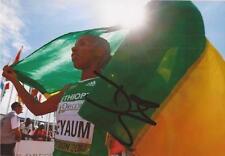 ATHLETICS: DAWIT SEYAUM SIGNED 6x4 ACTION PHOTO+COA *RIO 2016* *ETHIOPIA*