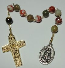St Raphael & St Christopher 1-Decade Rosary Pope Francis Good Shepherd Crucifix