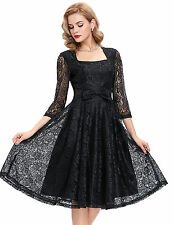 Lace 2016 Womens Black Short Dress Punk Rock Goth Alternative Vintage