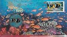 2010 Australia PNC with commemorative medallion, Fishes of the Reef