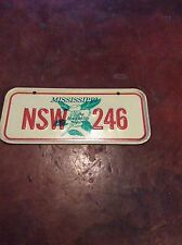 Vintage Bicycle License Plate Mississippi 1970's