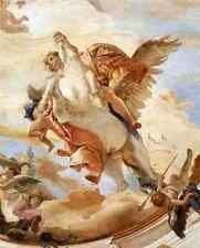 Metal Sign Giovanni Battista Tiepolo Palazzo Labia Bellerophon On Pegasus Detail