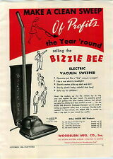 1948 PAPER AD Toy Electric Bizzie Bee Vacuum Cleaner Woodburn Co