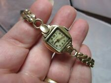 Vtg Waltham 10kt Gold filled ladies wrist watch. NOT working