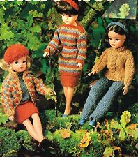 "12""  Dolls clothes knitting pattern. Laminated copy. (V Doll 121)"