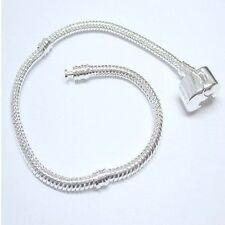 1 x Snake Bracelet fit Charm Beads - 20cm - A5416-A