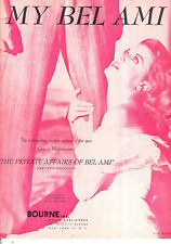 "PRIVATE AFFAIR OF BEL AMI Sheet Music ""My Bel Ami"" Angela Lansbury"