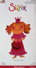 Sizzix Medium Sizzlit Girl in Princess Costume 655173 use in all roller machines