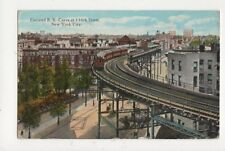 Elevated RR Curve 110th Street New York City 1928 USA Postcard 510a