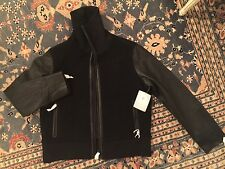 ATHLETA Derek Lam 100% Lamb Leather Black Jacket Coat XL New $428.00