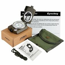 Waterproof Shakeproof Durable Army Cammenga Military Lensatic Compass With Pouch