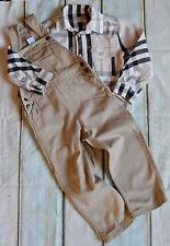 Boys Designer Clothes Bundle Burberry Checked Shirt ZY Dungarees 2-3 Years Vgc