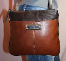TIGNANELLO Small Brown Leather Shoulder Hobo Tote Satchel Cross Body Purse Bag