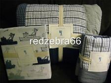 Pottery Barn Kids Sullivan Patch Twin Quilt Sham Easton Tug Boat Sheet Set 5-pc