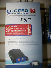 PAC LOC PRO 7 LP7-2 2 CHANNEL HIGH POWER LINE OUTPUT CONVERTER AMP STEREO SOEM-T