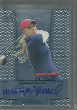MORGAN PRESSEL AUTO ON CARD 2012 LEAF METAL GOLF