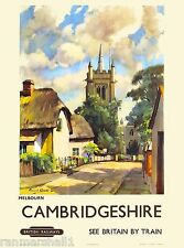 Cambridgeshire Great Britain British England English Travel Advertisement Poster