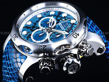 New Invicta 52mm Blue Snake Venom Swiss Made Chrono Leather 1000M SS Diver Watch
