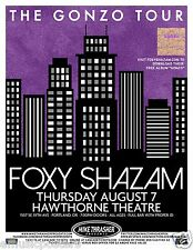 "FOXY SHAZAM ""THE GONZO TOUR"" 2014 SEATTLE CONCERT POSTER - Cincinnati Rocks!"