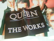 QUEEN THE WORKS / WITH POSTER AND PROMO BLACK POSTER