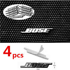 4pcs Bose Car Audio Speakers 3D aluminum badge emblem with sticker