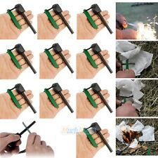 10xSurvival Magnesium Flint Stone Fire Starter Emergency Lighter Kit For Camping