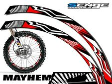 14 & 16 INCH DIRT BIKE RIM PROTECTORS WHEEL DECALS TAPE GRAPHICS MOTORCYCLE