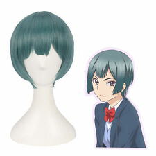 Kiss Him Not Me Nishina Shima Short Green Straight Cosplay Full Wig