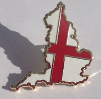 England flag  map badge, St George flag on an England map pin badge
