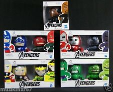 Marvel The Avengers MINI MUGGS Lot Hulk Thor Captain America Silver Centurion