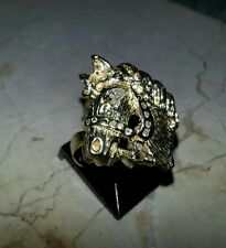 14kt Gold Ring Diamond's Horse Head, Marquis Diamond Eye & Diamond's on Harness!