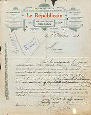 ORLEANS JOURNAL LE REPUBLICAIN COURRIER CYCLES HELYETT SULLY-SUR-LOIRE 1925
