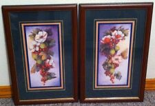 Homco Home Interiors Magnolia Pictures VGC 16 x 10 Dorothy Mullins Fruit Flowers