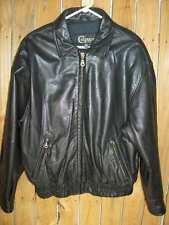 Colebrook Black Leather Jacket Mens L - Large - Zip Front 2 Front Zipper Pockets