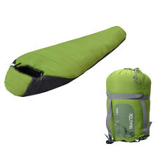 Camping -10℃~10℃ Mummy Shaped Sleeping Bag Hiking Traveling W/Carrying